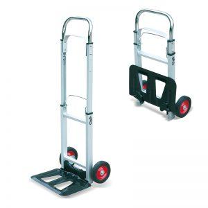 Преносна алуминиумска преклопувачка количка за товарни торби